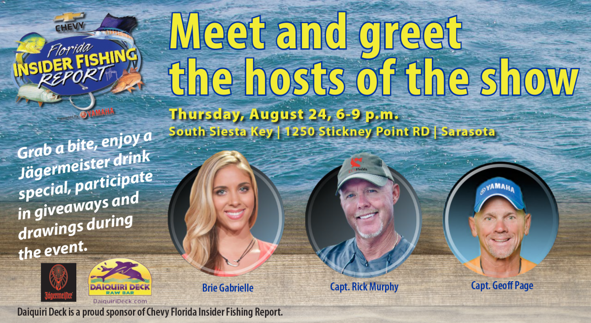 Meet the team at daiquiri deck florida insider fishing for Chevy florida fishing report